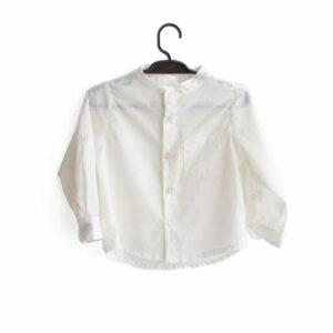 Camisa Branco  6 a 12 meses