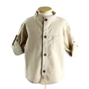 Camisa Bege  6 a 12 meses