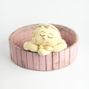 Base de madeira Cor 02 - Rosa pastel  G