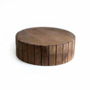 Base de madeira Marrom  M