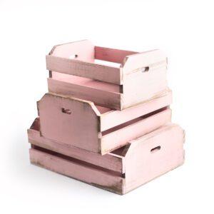 Caixotinhos prop / apoio - kit com 3 Cor 02 - Rosa pastel