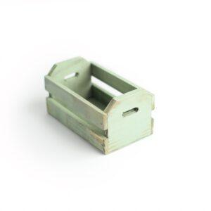 Caixotinho Mini de madeira para cenário Cor 25 - Verde pastel