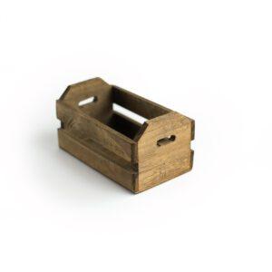 Caixotinho Mini de madeira para cenário Marrom