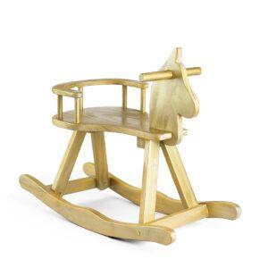 Cavalinho de madeira Cor 50 - Dourado