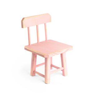 Cadeirinha de madeira MINI Cor 02 - Rosa pastel