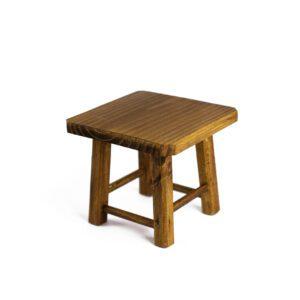 Banquinho de madeira Mini Natural escuro