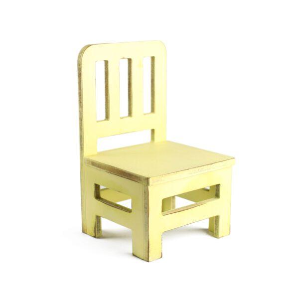 Cadeirinha Colonial Cor 03 - Amarelo claro