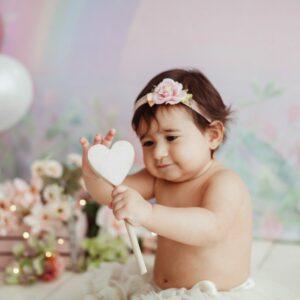 Coração com guizo Rosa