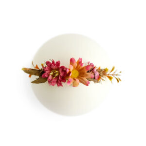 Headband floral – Modelo III Terracota