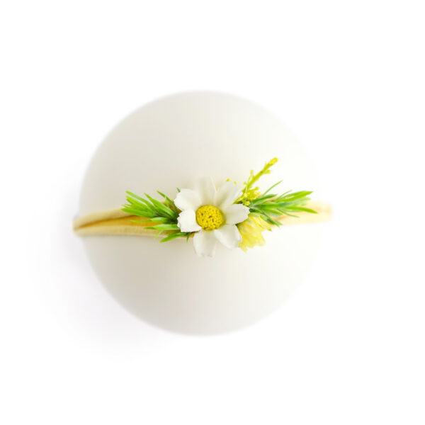 Headband floral - Modelo II Amarelo