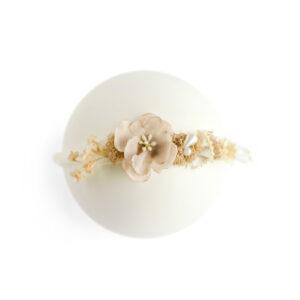 Headband floral Nude