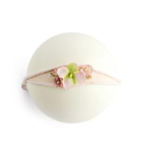 Headband flor – Modelo III Rosa