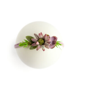 Headband floral Roxo