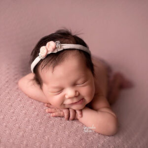 Headband flor - Modelo VII Rosa