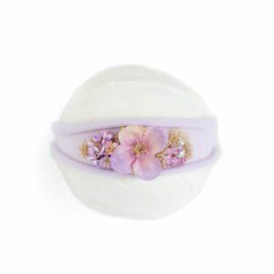 Headband flor – Modelo III Lilás