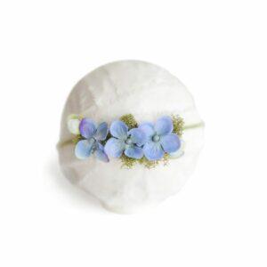 Headband flor - Modelo II Azul
