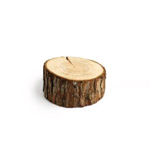 Tronquinho de madeira rústico baixo Natural  P