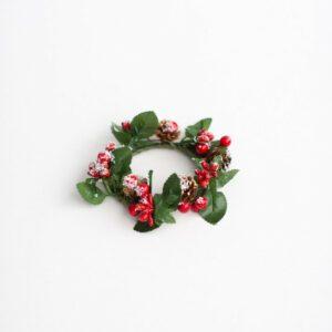 Arranjo de Natal - Mini guirlanda II Vermelho