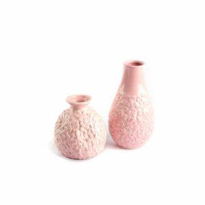 Vasinho de cerâmica rosa bebê Rosa  P