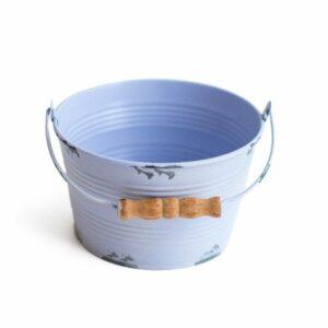 Mini baldinho de ferro para cenário - Modelo I Azul