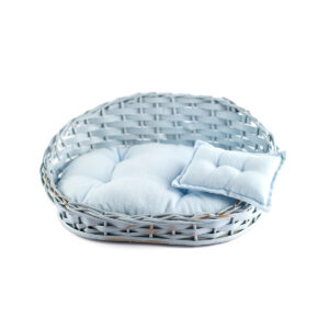 Sofazinho de vime com futton Cor 34 - Azul clarinho