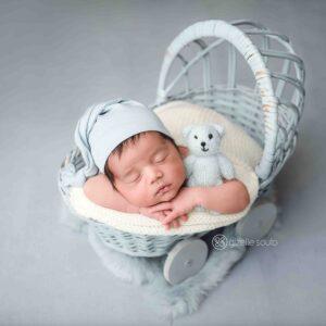 Touca Soneca Azul bebê Newborn