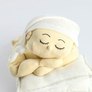 Touca Soneca Branco  Newborn