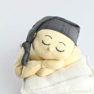 Touca Soneca Cinza Escuro Newborn