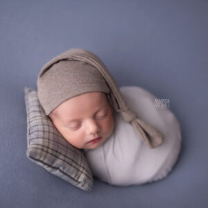Touca Soneca Marrom Claro Newborn