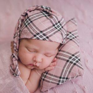 Touca Soneca Rosa  Newborn