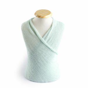 Wrap com textura de lã Mint