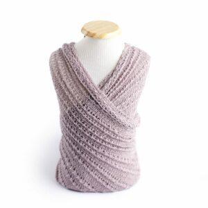 Wrap com textura de lã Lilás