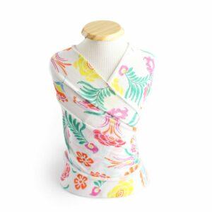 Wrap de acabamento floral II Colorido