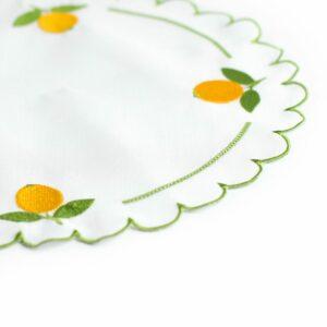 Tapetinho circular limão siciliano Amarelo