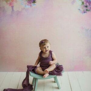 Fundo fotográfico floral III Colorido  G