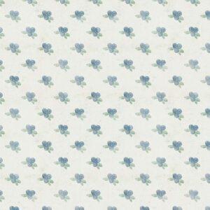 Fundo fotográfico floral XI Azul  G