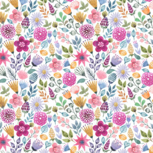 Fundo fotográfico floral XIV Colorido  P