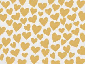 Fundo fotográfico coração II Amarelo  G