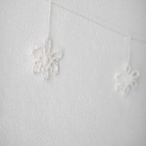 Pendente de crochet Branco Branco