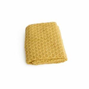 Layer de lã texturizado dupla face Amarelo