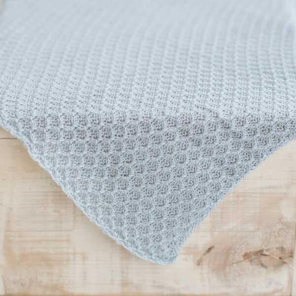 Layer de lã texturizado dupla face Azul