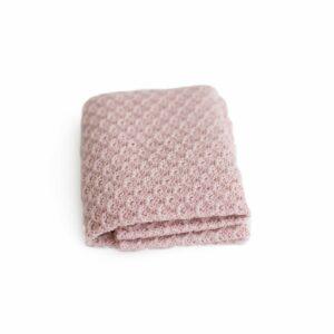 Layer de lã texturizado dupla face Rosa claro