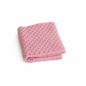 Layer de lã texturizado dupla face Rosa escuro