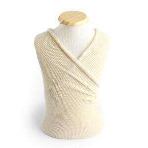 Wrap liso de lã Bege