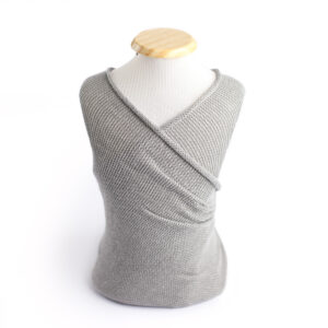 Wrap liso de lã Cinza