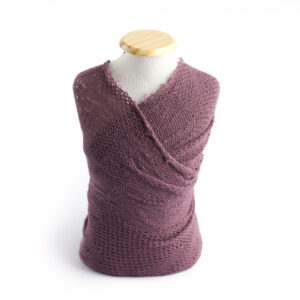 Wrap de acabamento de lã Mini Roxo