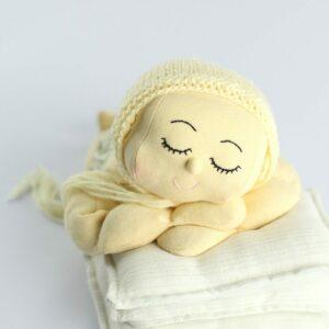Toquinha de lã Amarelo  Newborn