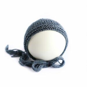 Toquinha de lã Azul marinho  Newborn