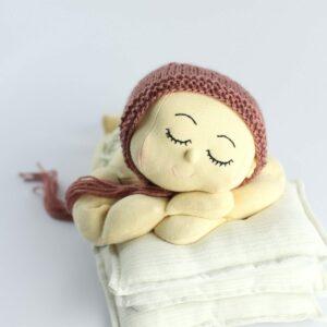 Toquinha de lã Terracota  Newborn
