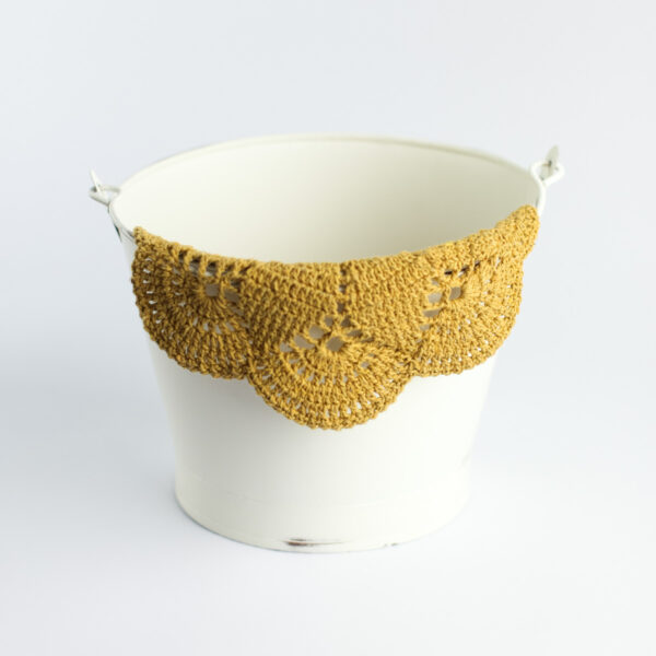 Layer crochet Amarelo mostarda
